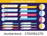 set of business infographic... | Shutterstock .eps vector #1703581270