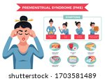pms woman infographics with...   Shutterstock .eps vector #1703581489