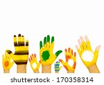 image of human hands in... | Shutterstock . vector #170358314