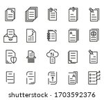 simple set of documents related ... | Shutterstock .eps vector #1703592376