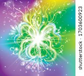 radiant spiritual flower with... | Shutterstock .eps vector #1703600923