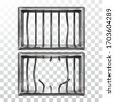 prison window and broken... | Shutterstock .eps vector #1703604289