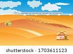 autumn kazakhstan countryside... | Shutterstock .eps vector #1703611123