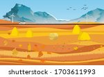 autumn countryside golden color ... | Shutterstock .eps vector #1703611993