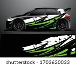 rally car decal graphic wrap... | Shutterstock .eps vector #1703620033