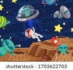 Background Scene With Astronaut ...