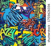 abstract seamlessgraffiti... | Shutterstock .eps vector #1703626336