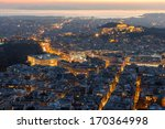 Athens Skyline Aerial View In...