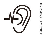 hearing test. ear icon isolated ... | Shutterstock .eps vector #1703650750