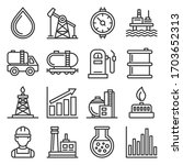 oil and gas industry icons set... | Shutterstock .eps vector #1703652313
