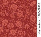 vintage floral illustration.... | Shutterstock .eps vector #1703658136