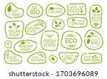set of eco green frame label...   Shutterstock .eps vector #1703696089