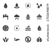 water drop vector icons set ... | Shutterstock .eps vector #1703698879