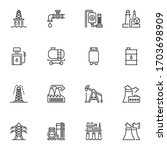 oil industry line icons set.... | Shutterstock .eps vector #1703698909