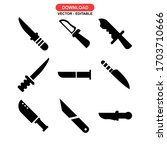 knife icon or logo isolated...   Shutterstock .eps vector #1703710666