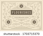 vintage ornaments swirls and... | Shutterstock .eps vector #1703715370