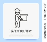 safety delivery of package for...   Shutterstock .eps vector #1703724919