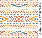 cute summer tribal pattern.... | Shutterstock .eps vector #1703727496