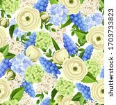 vector seamless pattern with... | Shutterstock .eps vector #1703733823