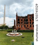 Small photo of VOLGOGRAD, RUSSIA - September, 2019:The Gerhardt's mill, steam mill ruined in WWII during the Battle of Stalingrad
