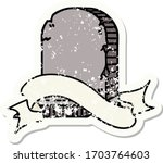 worn old sticker with banner of ... | Shutterstock .eps vector #1703764603