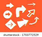 set of hand drawn paint object... | Shutterstock .eps vector #1703772529