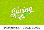spring banner. vector... | Shutterstock .eps vector #1703776939