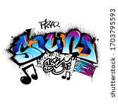 soundword drawing in graffiti...   Shutterstock .eps vector #1703795593