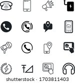 phone vector icon set such as ...