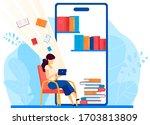 online library  read book in... | Shutterstock .eps vector #1703813809