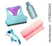 Watercolor Clip Art With Sport...