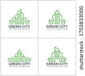 nature city logo design with...   Shutterstock .eps vector #1703833000