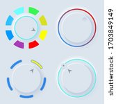 neumorph ui circle light set....