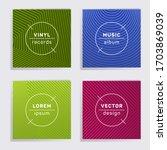 geometric plate music album...   Shutterstock .eps vector #1703869039