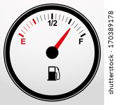 Car Fuel Gauge Icon  Vector...