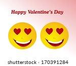 valentine's day emoticon   Shutterstock .eps vector #170391284