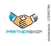 handshake abstract vector... | Shutterstock .eps vector #170392784