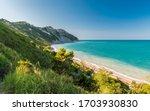 The Mezzavalle Beach Along The...
