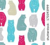 bears seamless pattern  | Shutterstock .eps vector #170393999