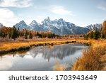 Teton Mountain Range Reflectio...
