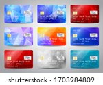 credit cards set with colorful... | Shutterstock .eps vector #1703984809