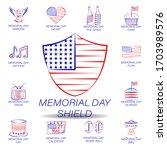 memorial day shield colored...