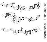 Black Color Music Note...