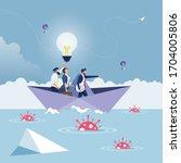 leader pointing hand forward...   Shutterstock .eps vector #1704005806