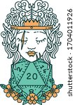 retro tattoo style elf... | Shutterstock .eps vector #1704011926