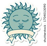 tattoo style sticker with... | Shutterstock .eps vector #1704013090