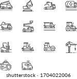 construction icon. tractor icon.... | Shutterstock .eps vector #1704022006