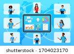 vector concept  business team... | Shutterstock .eps vector #1704023170