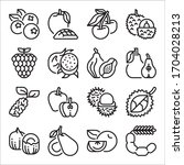 simple set of fruit related...   Shutterstock .eps vector #1704028213