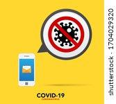 sign caution coronavirus. stop...   Shutterstock .eps vector #1704029320